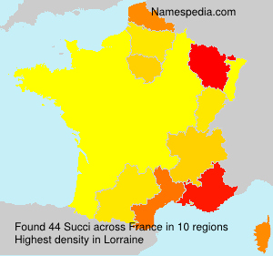 Surname Succi in France