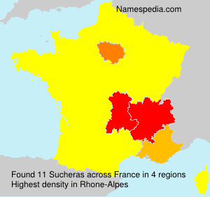 Surname Sucheras in France