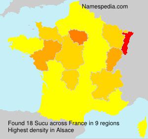 Familiennamen Sucu - France