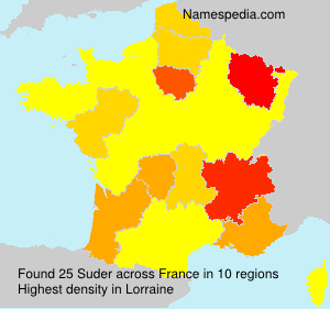 Surname Suder in France