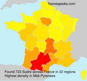 Surname Sudre in France