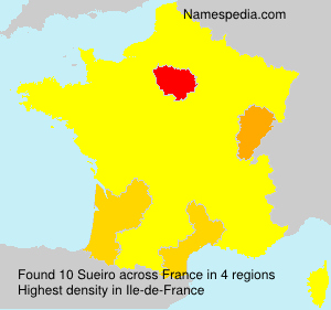 Surname Sueiro in France