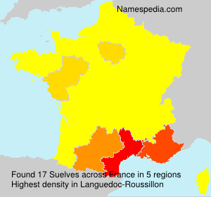 Surname Suelves in France