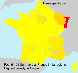 Surname Suhr in France
