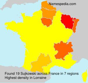 Surname Sujkowski in France