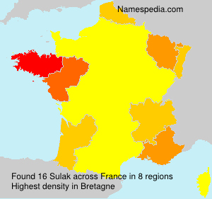 Surname Sulak in France