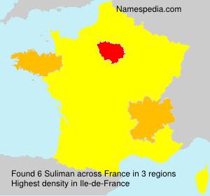 Surname Suliman in France