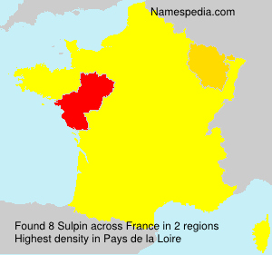 Surname Sulpin in France