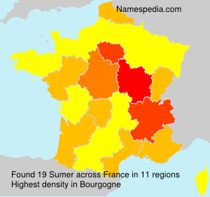 Surname Sumer in France
