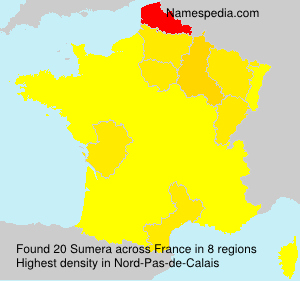 Surname Sumera in France