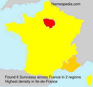 Surname Sunnassy in France