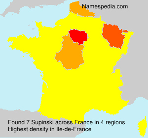 Surname Supinski in France