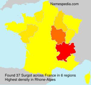 Surname Surgot in France