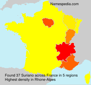 Surname Suriano in France