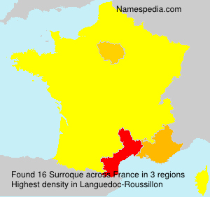 Surname Surroque in France