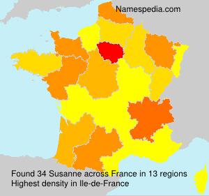 Surname Susanne in France