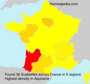 Surname Susbielles in France