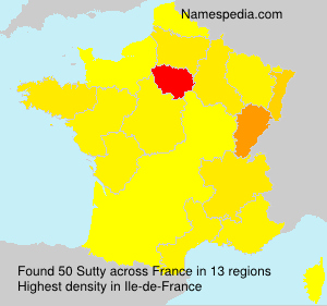 Surname Sutty in France