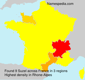 Surname Suzel in France