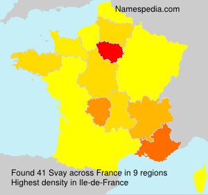Surname Svay in France