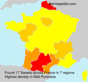 Surname Swaels in France