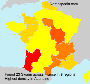 Surname Swann in France
