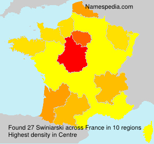 Surname Swiniarski in France
