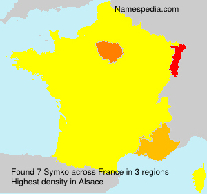 Familiennamen Symko - France