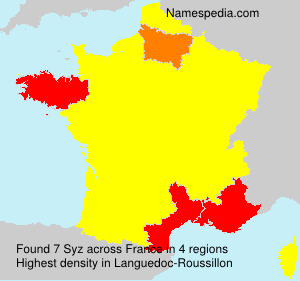 Surname Syz in France