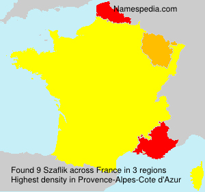 Surname Szaflik in France