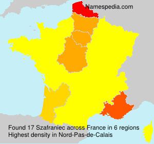 Familiennamen Szafraniec - France