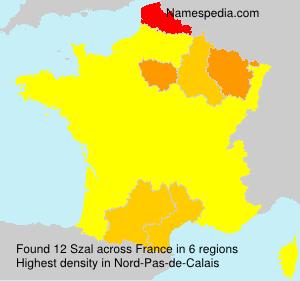Familiennamen Szal - France