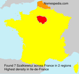 Surname Szalkiewicz in France
