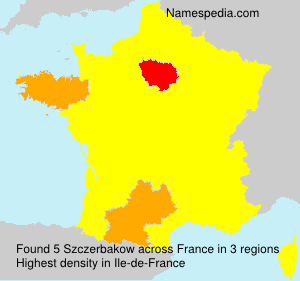 Surname Szczerbakow in France