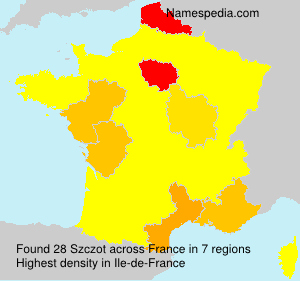 Surname Szczot in France