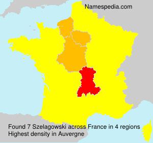 Surname Szelagowski in France
