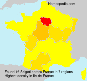 Surname Szigeti in France