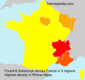 Surname Szklarczyk in France