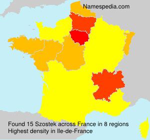 Surname Szostek in France