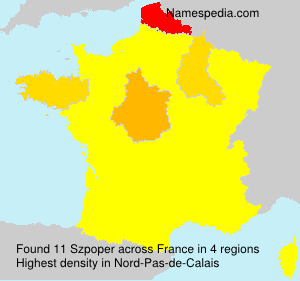 Surname Szpoper in France