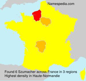 Familiennamen Szumacher - France