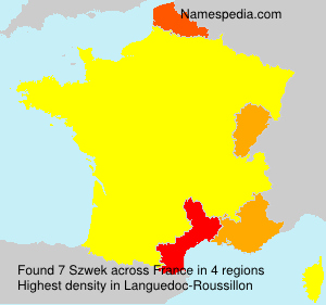 Surname Szwek in France