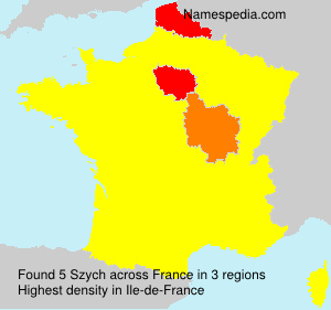 Surname Szych in France