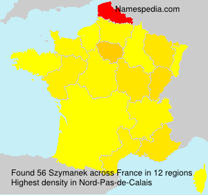 Surname Szymanek in France