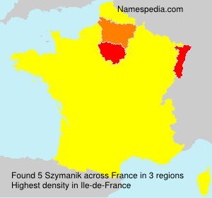 Surname Szymanik in France