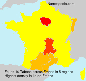 Surname Tabach in France