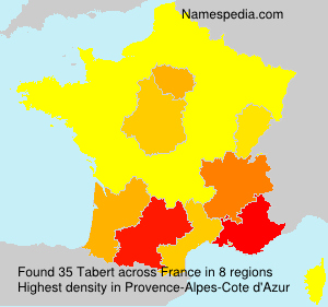 Surname Tabert in France