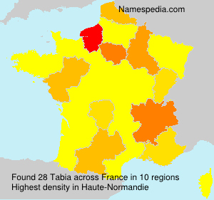 Surname Tabia in France