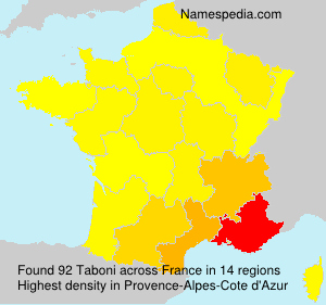 Surname Taboni in France