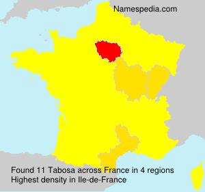 Surname Tabosa in France